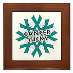 Ovarian Cancer Sucks Framed Tile