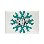 Ovarian Cancer Sucks Rectangle Magnet (10 pack)