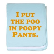 Poopypants baby blanket