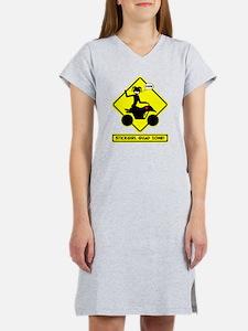 ATV STICKGIRL Yellow placard Women's Nightshirt