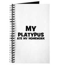 My Platypus Ate My Homework Journal