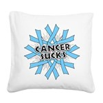 Prostate Cancer Sucks Square Canvas Pillow