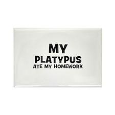My Platypus Ate My Homework Rectangle Magnet