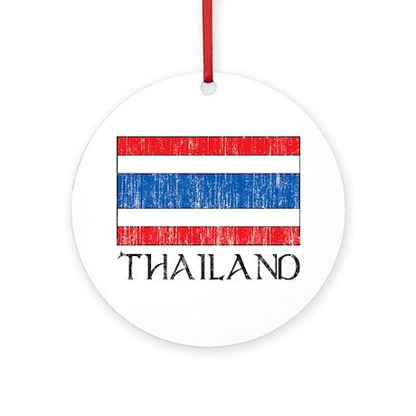 Thailand Flag Ornament (Round)