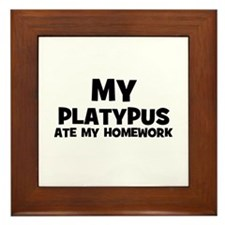 My Platypus Ate My Homework Framed Tile