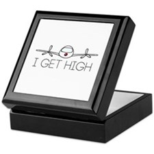 'I Get High' Keepsake Box