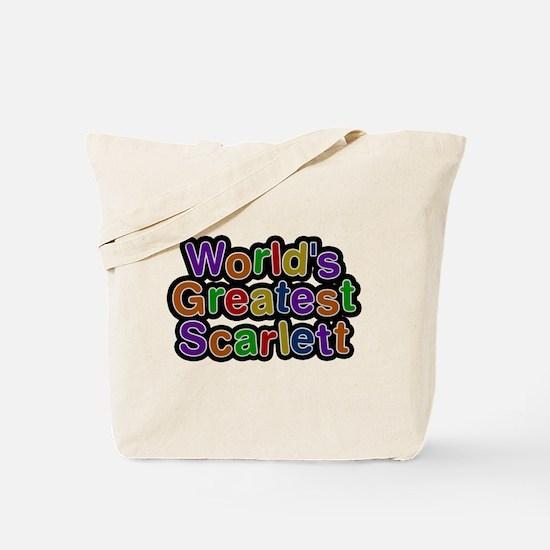 Worlds Greatest Scarlett Tote Bag