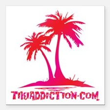 """PALMS - RUM PUNCH Square Car Magnet 3"""" x 3"""""""