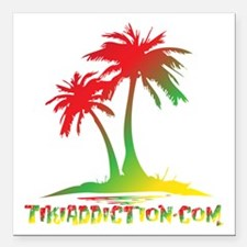 "PALMS - RASTA Square Car Magnet 3"" x 3"""