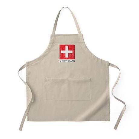 Switzerland Flag BBQ Apron