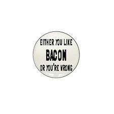 Cute Eating bacon Mini Button