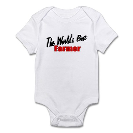 """The World's Best Farmer"" Infant Bodysuit"
