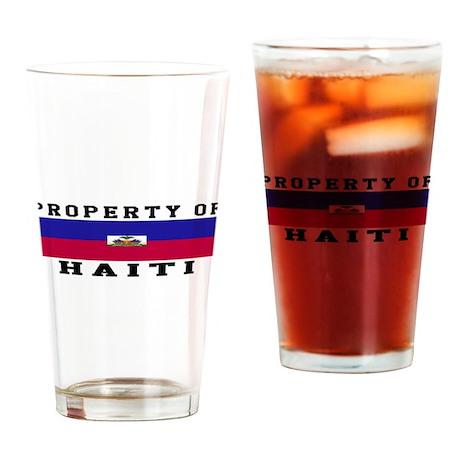 Property Of Haiti Drinking Glass