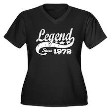 Legend Since 1972 Women's Plus Size V-Neck Dark T-