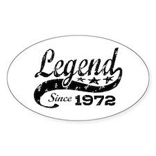 Legend Since 1972 Decal