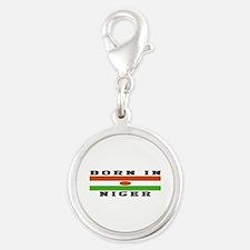 Born In Niger Silver Round Charm