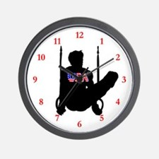 USA GYMNAST Wall Clock