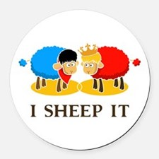 I Sheep It Round Car Magnet