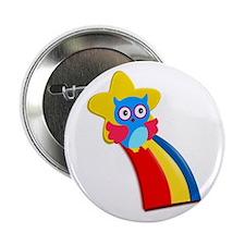 """Rainbow Owl 2.25"""" Button"""