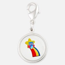 Rainbow Owl Charms