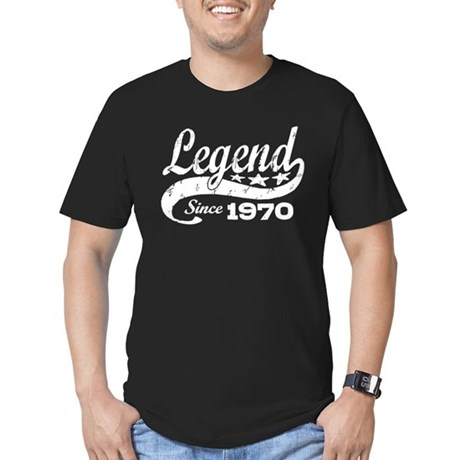 Legend Since 1970 Men's Fitted T-Shirt (dark)