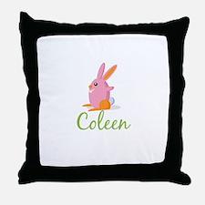 Easter Bunny Coleen Throw Pillow