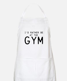 Id rather be at the Gym Apron