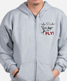 'Time To Fly' Zip Hoodie
