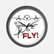 'Time To Fly' Wall Clock