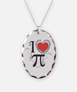 I heart Pi Necklace