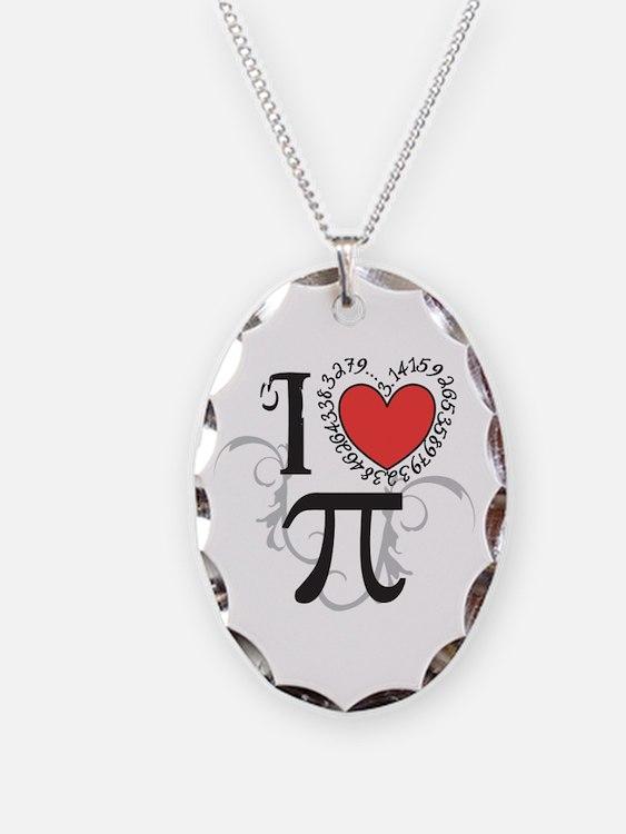 I heart Pi Necklace