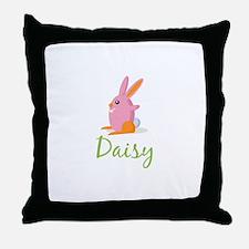 Easter Bunny Daisy Throw Pillow