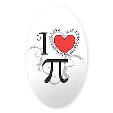 I heart Pi Sticker