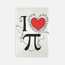 I heart Pi Rectangle Magnet