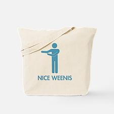 Nice Weenis - Blue Tote Bag