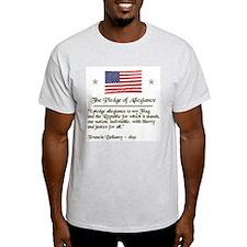 """The ORIGINAL Pledge"" Ash Grey T-Shirt"