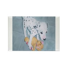 Roxie the Dalmatian Pup Rectangle Magnet