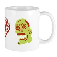 I Love Zombies Small Mugs