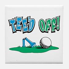 Tee'd Off Golf Design Tile Coaster