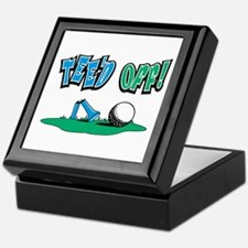 Tee'd Off Golf Design Keepsake Box