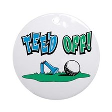 Tee'd Off Golf Design Ornament (Round)
