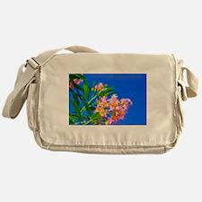Desert Willow Bloom Modern Painting Messenger Bag