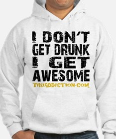 GET AWESOME - WHITE Hoodie