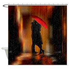 Kiss Me In The Rain Art Shower Curtain