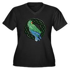 Celtic Eclectus Parrot Women's Plus Size V-Neck Da