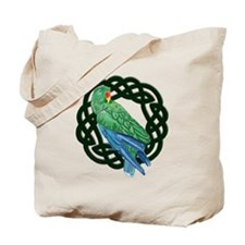 Celtic Eclectus Parrot Tote Bag