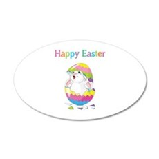 Happy Easter 22x14 Oval Wall Peel