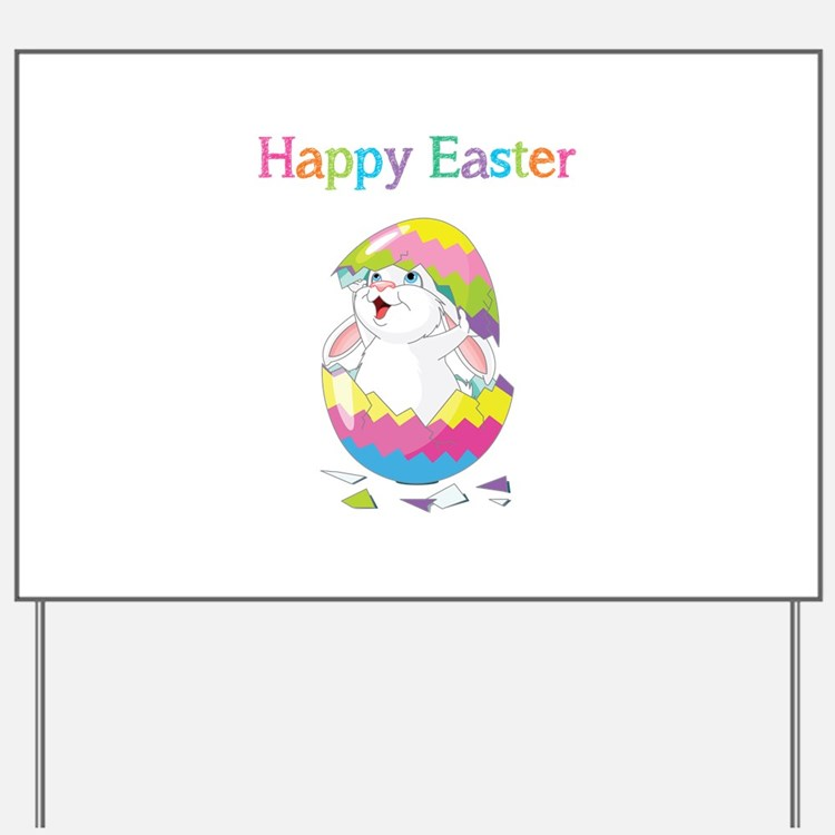 Happy Easter Yard Sign