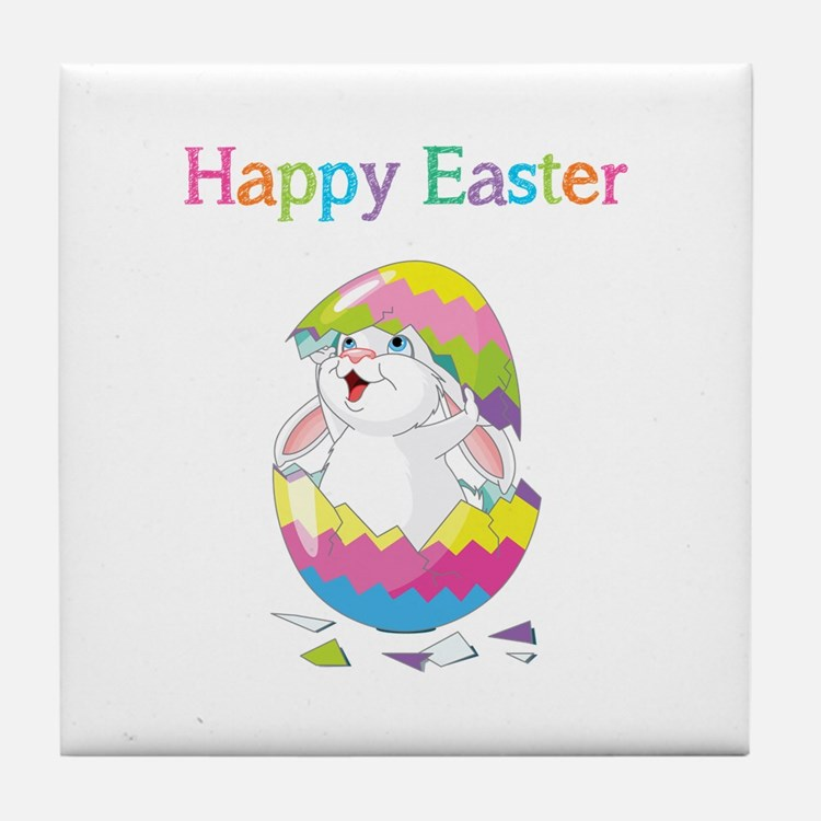 Happy Easter Tile Coaster