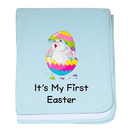 It's My First Easter baby blanket